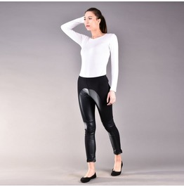 Black Leather Leggings, Leather Pants, Vegan Leather, Cigarette Slim Pants
