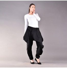 Linen Pants, Loose Pants, Black Women Pants, Loose Linen Pants