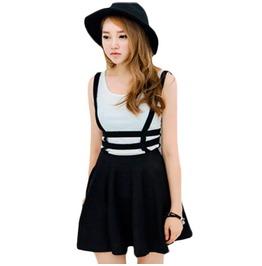 Hollow out suspender skirt rebelsmarket