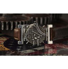 Steampunk Vintage Gear Stainless Steel Watch Brown Band