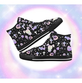 Converse Halloween Canvas Shoes Pastel Goth Shoes Fairy Kei