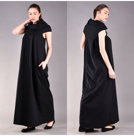 Black Long Dress, Loose Dress, Black Maxi Dress