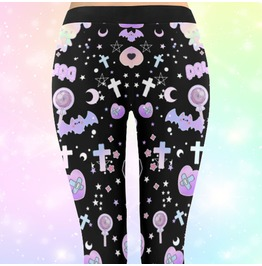 Pastel Goth Clothing Leggings Halloween Leggings