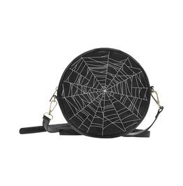 Halloween Bag Goth Bag Halloween Purse Spiderwe Gothic Round Messenger Bag