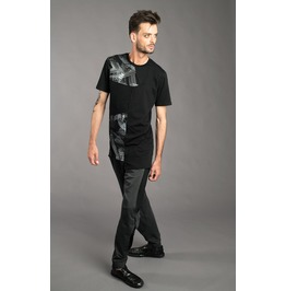 Mens futuristic two layered drop crotch pants with cutouts rebelsmarket