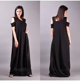 Black Dress, Maternity Dress, Summer Dress, Loose Dress, Long Black Dress