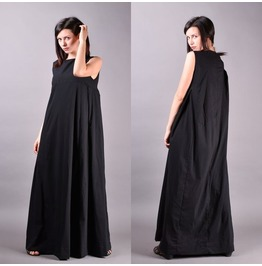 Black Dress, Kaftan Dress, Summer Dress, Long Black Dress, Loose Dress