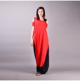 Long Dress, Maxi Red Dress, Bohemian Dress, Summer Dress, Maxi Dress