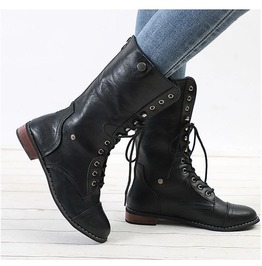 Thigh High Lace up Women Boots