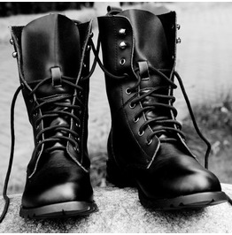 Rider Boots for Mens, Men Biker Leather Boots, Military Boots