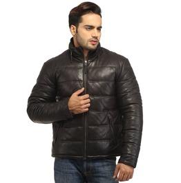 Men Best Seller Lamb Leather Puffer Jacket