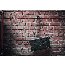 Skull Pattern Rivets Slim Shoulder Handbag