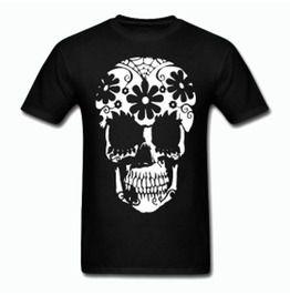 12997114b16 Sugar Skull Day Of The Dead Tee