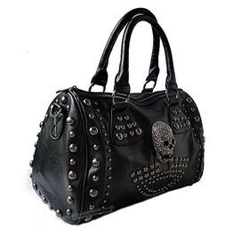 Skull Rivets Multi Purpose Handbag