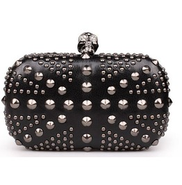 Mini Skull Head Rivets Hand/Shoulder Handbag