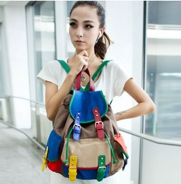 Colorful Patched Work Backpack