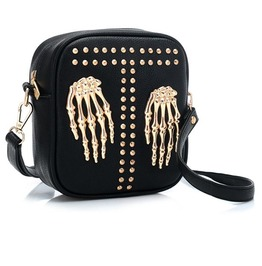 Skeleton Rivets Mini Shoulder Handbag