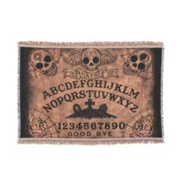 Sugar Skull Day Of The Dead Ouija Board Throw Blanket