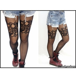 Thigh Lace Fishnet Stockings/ Pantyhose