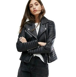 Gothic Punk Streetwear Black Zipper Button Design Spliced Sleeves Faux Leather Jacket