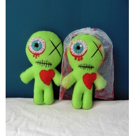 Married Zombie Voodoo Doll Couple Gift, Day of the Dead, Valentine, Wedding