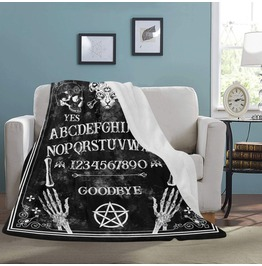 Halloween Ouija Board Blanket Gothic Home Decor Halloween Blanket