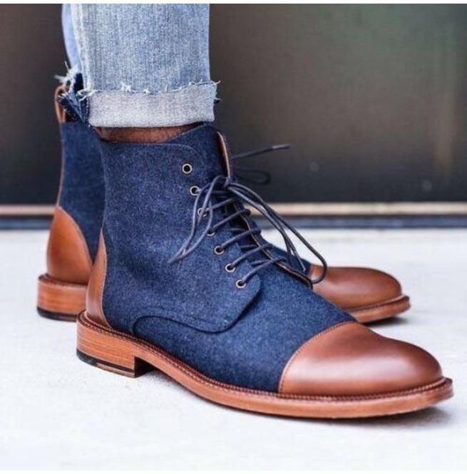 mens denim dress shoes