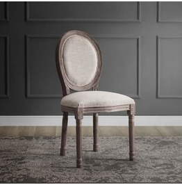 Emanate Vintage French Upholstered Dining Side Chair