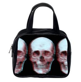 3-D Skull Hand Bag