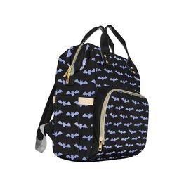 Black & Purple Bat Baby Diaper Nappy Changing Backpack Bag