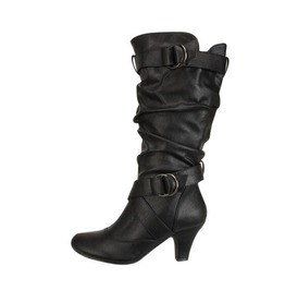 Buckle Straps Thigh High Women Boots