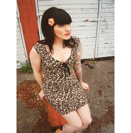 Rockabilly Pinup Dress Leopard Rock Vintage Party
