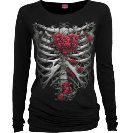 Rose Bones Black Baggy Top