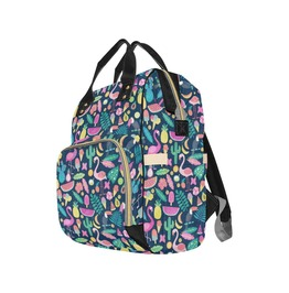 Tropical Flamingo and Cactus Baby Diaper Nappy Changing Backpack Bag