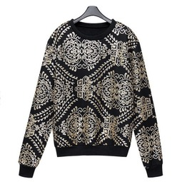 Personalized Sequin Patterned Punk Hoodie