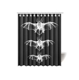 Gothic Bats Shower Curtain Gothic Home Decor Goth Bathroom Decor