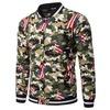 Single breasted o neck camouflage american flag print bomber jacket rebelsmarket
