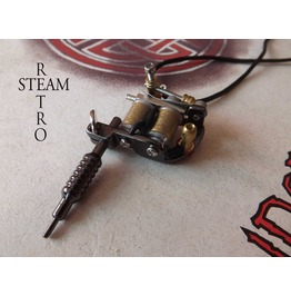 Mini Tattoo Machine Gun Pendant Black