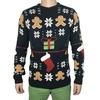 Black funny print standard wool knitted christmas sweater rebelsmarket