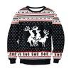 Rib cuff o neck geometric pattern 3d print christmas sweater rebelsmarket