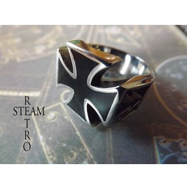 Gothic Iron Cross Biker Ring Gothic Steamretro