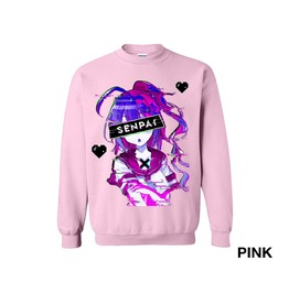 Anime Senpai Sweatshirt Harajuku Aesthetic Vaporwave Japanese Sweatshirt