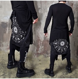 Zodiac Printed Double Wrap Banded Pants - 383