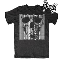 Consumed Barcode Black T Shirt