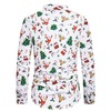 Christmas deer 3d print button closure mandarin collar long sleeve shirt rebelsmarket