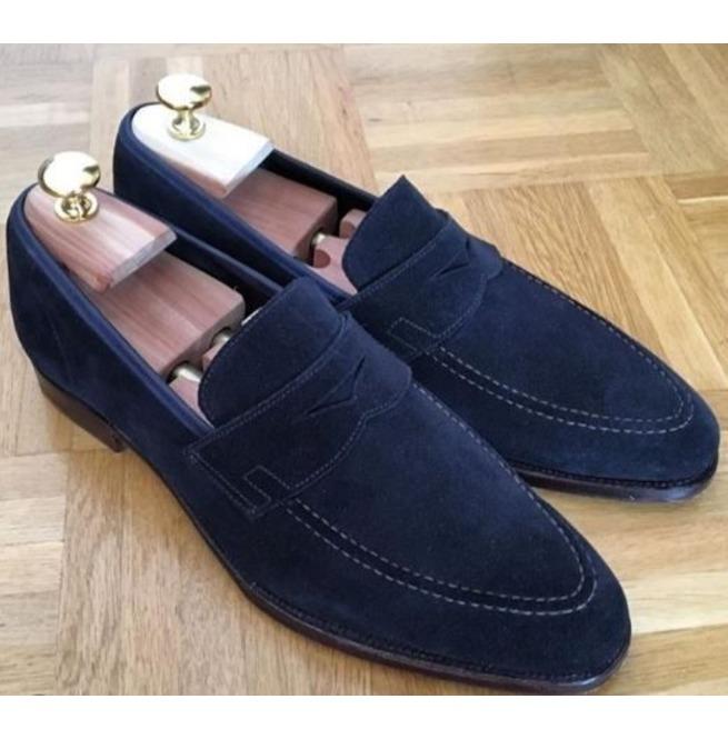 Navy Blue Color Loafer Slip On Formal