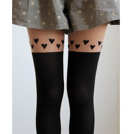 Hearts Thigh High Stockings/ Tights/ Pantyhose
