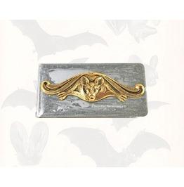 Vampire Bat Money Clip In Hand Painted Silver Enamel