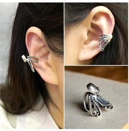 925 Sterling Silver Octopus Ear Clip Ear Expansion