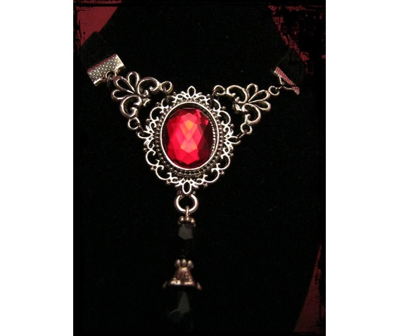 necklace_choker_velvet_ribbon_red_stone_necklaces_2.JPG